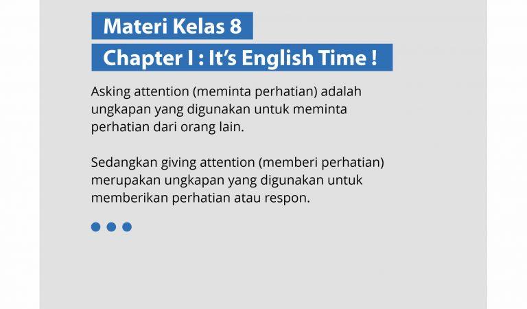 Materi Bahasa Inggris Kelas 8-Chapter I: It's English Time !