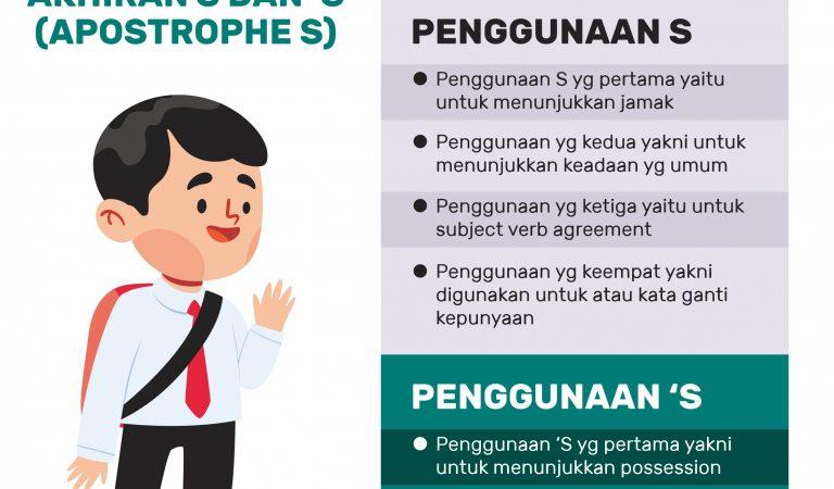 Penggunaan Akhiran S dan 'S (Apostrophe S) agar Bahasa Inggris Lebih Baik